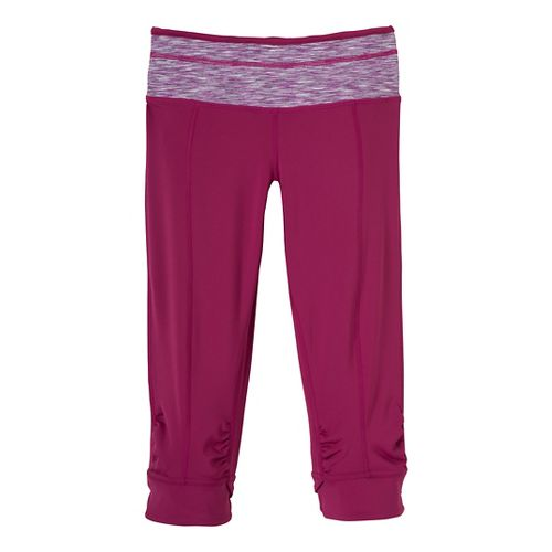 Womens Prana Alyson Knicker Capri Pants - Dark Plum XL