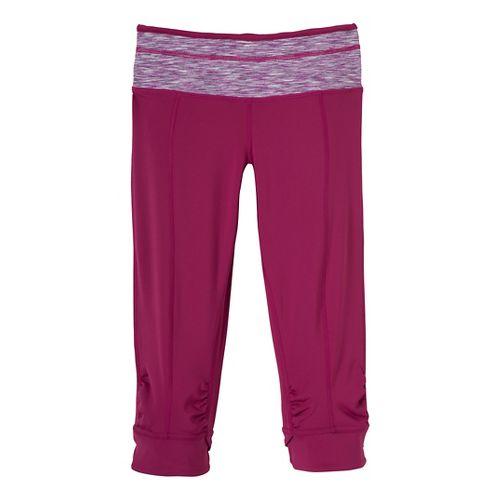 Womens Prana Alyson Knicker Capri Pants - Dark Plum XS