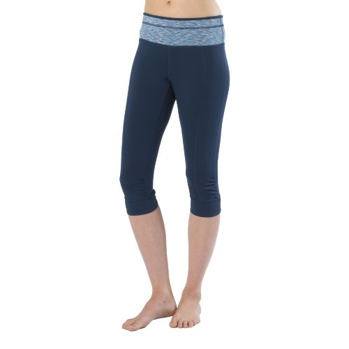 Womens Prana Alyson Knicker Capri Pants - Dress Blue M