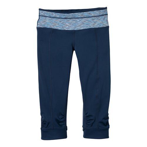 Womens Prana Alyson Knicker Capri Pants - Dress Blue/Stripe XS