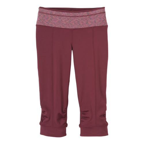 Womens Prana Alyson Knicker Capri Pants - Pomegranate XS