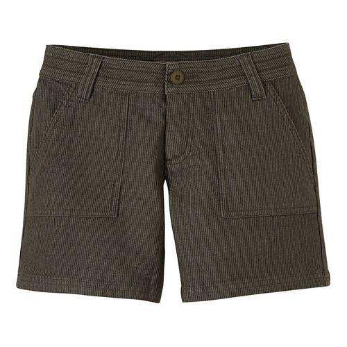 Womens Prana Tess Unlined Shorts - Cargo Green 8