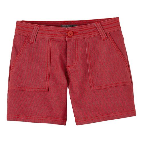 Womens Prana Tess Unlined Shorts - Sunwashed Red 10