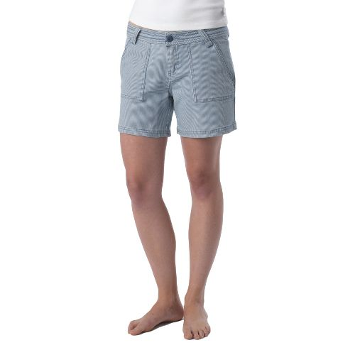 Womens Prana Tess Unlined Shorts - Denim Stripe OS