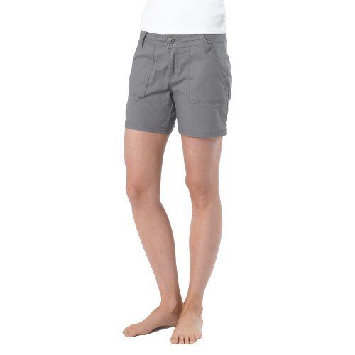 Womens Prana Tess Unlined Shorts - Gravel OS