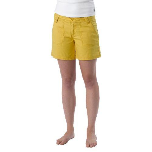 Womens Prana Tess Unlined Shorts - Lemon 4