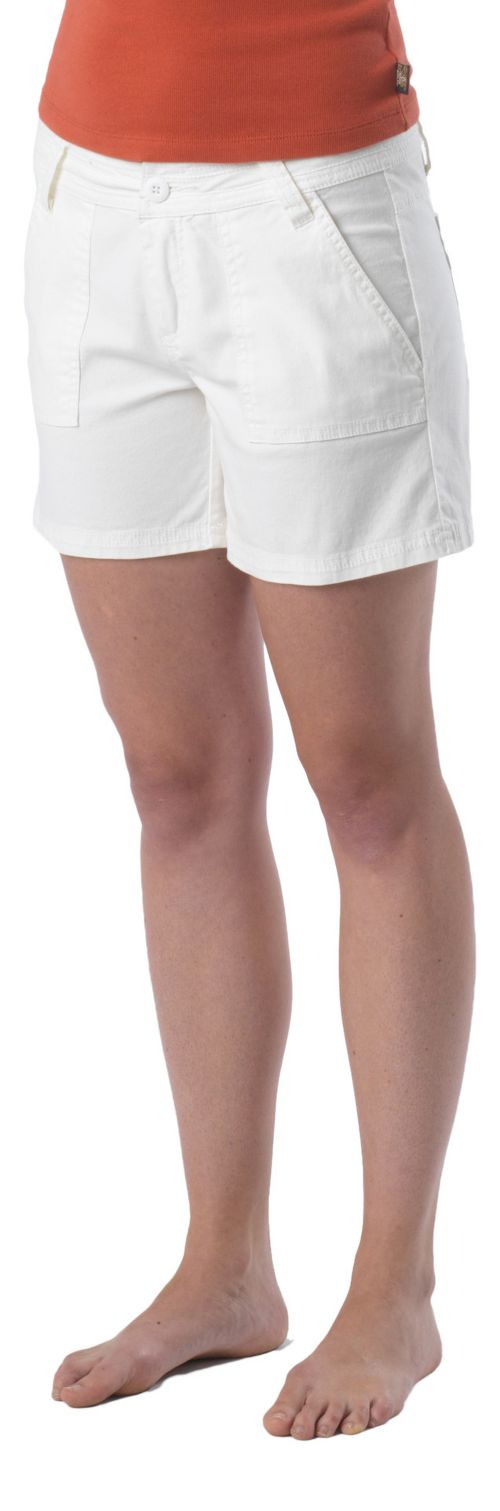 Womens Prana Tess Unlined Shorts - White 4