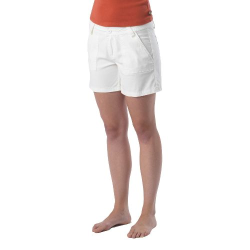 Womens Prana Tess Unlined Shorts - White 4