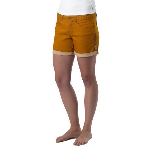 Womens Prana Kara Denim Unlined Shorts - Cumin 12