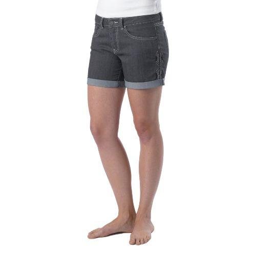 Womens Prana Kara Denim Unlined Shorts - Denim 6