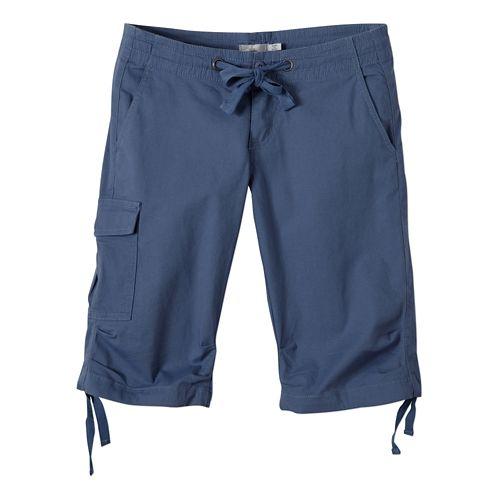 Womens Prana Emma Knicker Unlined Shorts - Bijou Blue OS