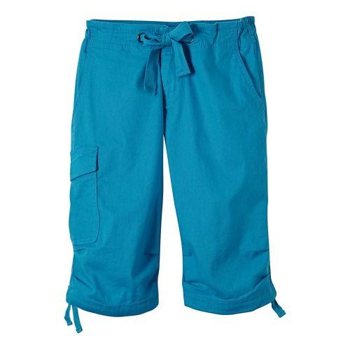 Womens Prana Emma Knicker Unlined Shorts - Cove 8