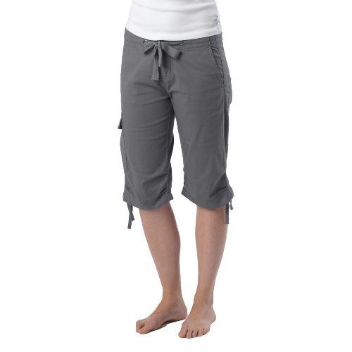 Womens Prana Emma Knicker Unlined Shorts - Gravel 14