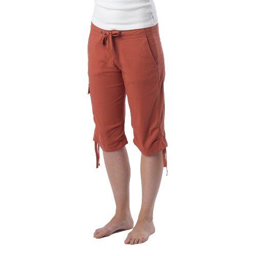 Womens Prana Emma Knicker Unlined Shorts - Indian Red 4