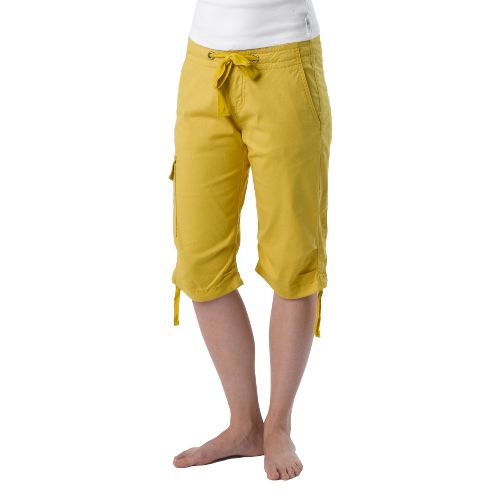 Womens Prana Emma Knicker Unlined Shorts - Lemon 4