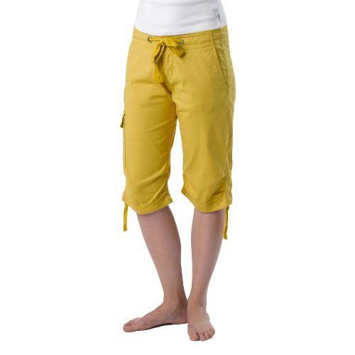 Womens Prana Emma Knicker Unlined Shorts - Lemon 8