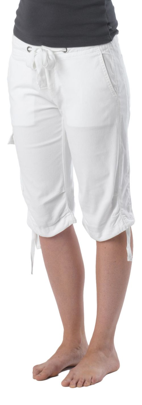 Womens Prana Emma Knicker Unlined Shorts - White 4