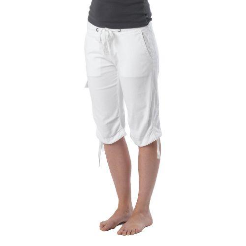 Womens Prana Emma Knicker Unlined Shorts - White OS