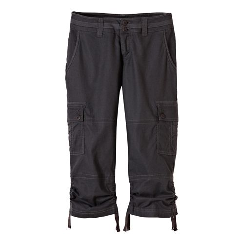 Womens Prana Kelly CapriPants - Charcoal 14
