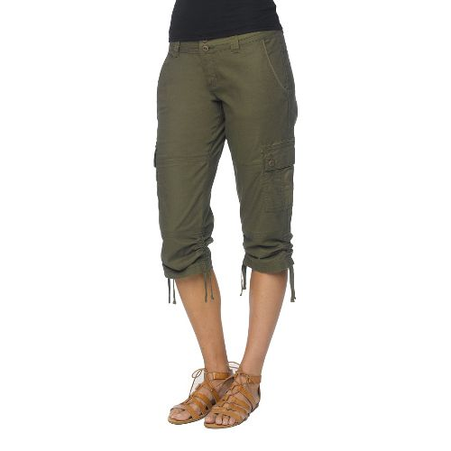 Womens Prana Kelly CapriPants - Cargo Green 8