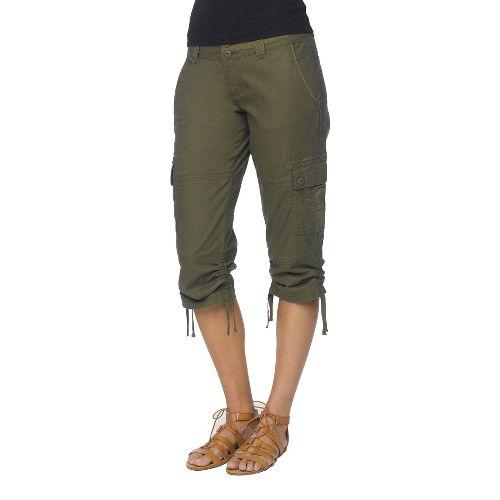 Womens Prana Kelly CapriPants - Cargo Green OS
