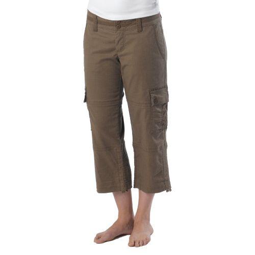 Womens Prana Kelly Capri Pants - Mud 4