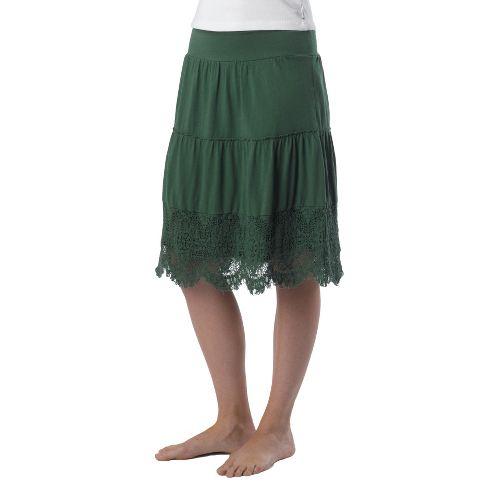 Womens Prana Jenni Fitness Skirts - Deep Jade L
