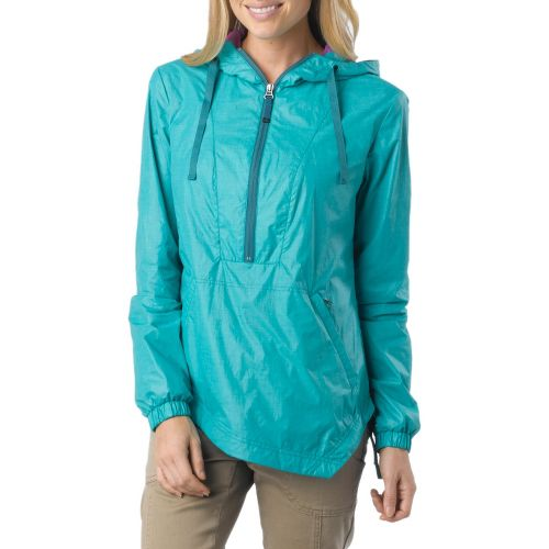 Womens Prana Fiona Anorak Warm-Up Hooded Jackets - Dragonfly L