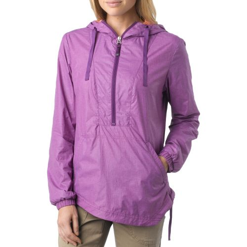 Womens Prana Fiona Anorak Warm-Up Hooded Jackets - Summer Plum XL