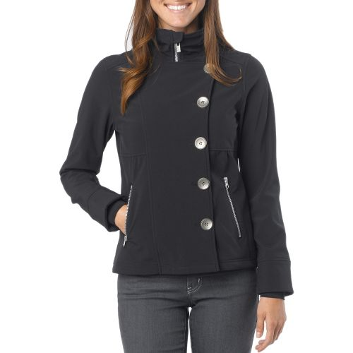 Womens Prana Martina Warm-Up Unhooded Jackets - Black S