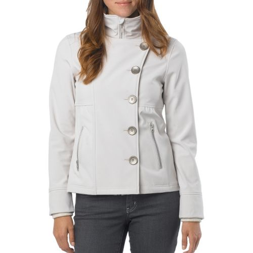Womens Prana Martina Warm-Up Unhooded Jackets - Sand M