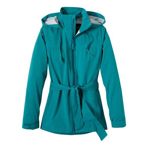 Womens Prana Eliza Jacket Warm-Up Hooded Jackets - Dynasty Green S