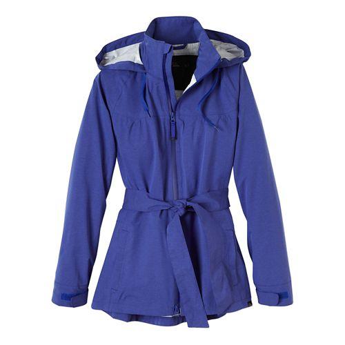 Womens Prana Eliza Jacket Warm-Up Hooded Jackets - Blue Jay L