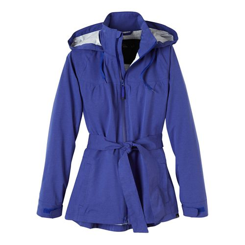 Womens Prana Eliza Jacket Warm-Up Hooded Jackets - Blue Jay M