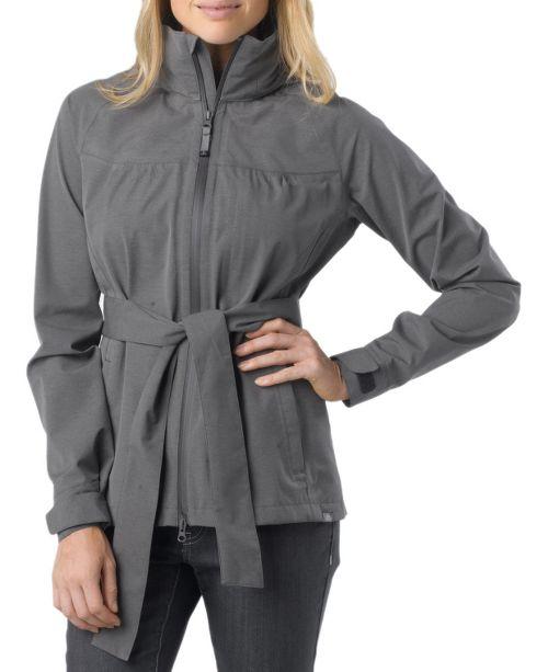 Womens Prana Eliza Jacket Warm-Up Hooded Jackets - Coal M