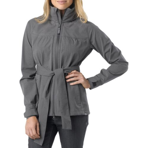 Womens Prana Eliza Jacket Warm-Up Hooded Jackets - Coal L