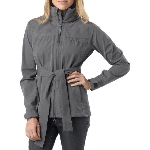 Womens Prana Eliza Jacket Warm-Up Hooded Jackets - Coal L