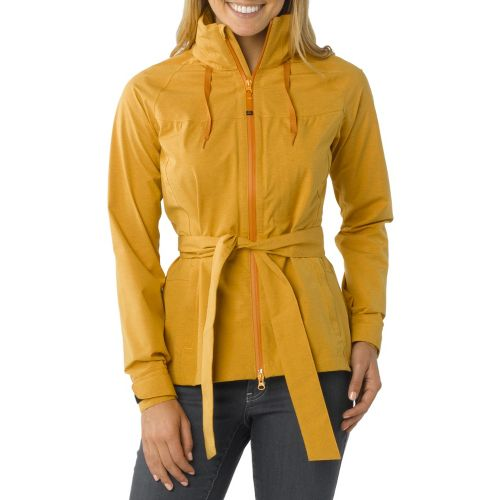 Womens Prana Eliza Jacket Warm-Up Hooded Jackets - Curry XS