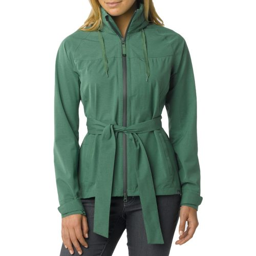 Womens Prana Eliza Jacket Warm-Up Hooded Jackets - Deep Jade XL