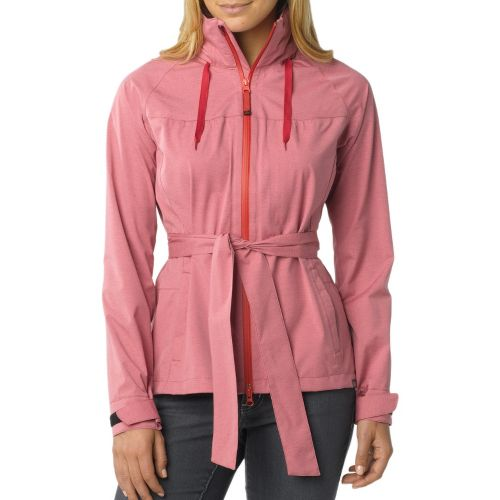 Womens Prana Eliza Jacket Warm-Up Hooded Jackets - Dusty Rose L