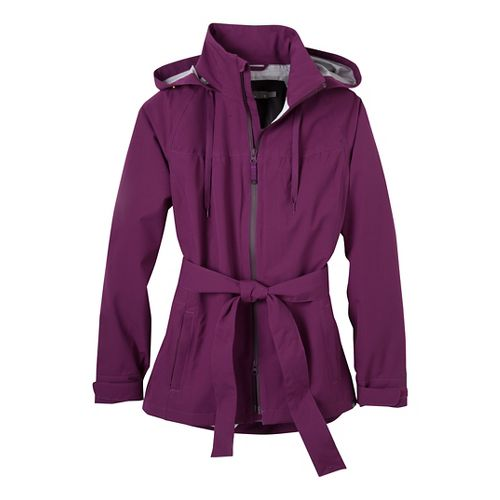 Womens Prana Eliza Jacket Warm-Up Hooded Jackets - Grapevine S