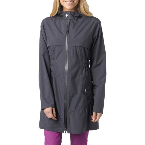 Womens Prana Jordi Jacket Warm-Up Hooded Jackets - Coal S