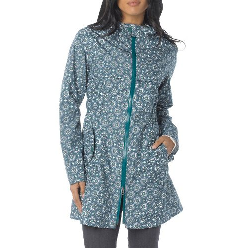 Womens Prana Jordi Jacket Warm-Up Hooded Jackets - Deep Turquoise XS