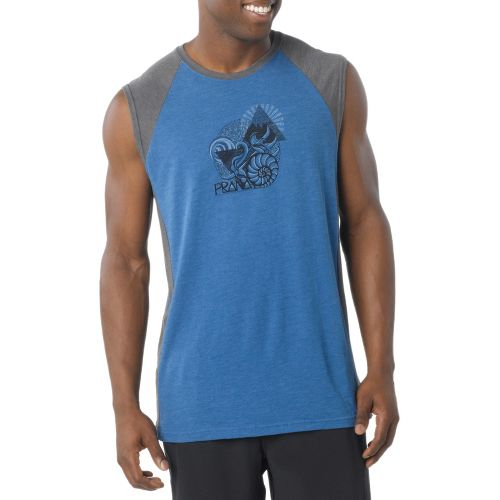 Mens Prana Mollusk Sleeveless Technical Tops - Sapphire S