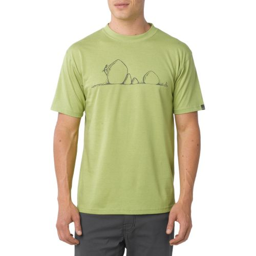 Mens Prana Boulder Short Sleeve Technical Tops - Spinach L