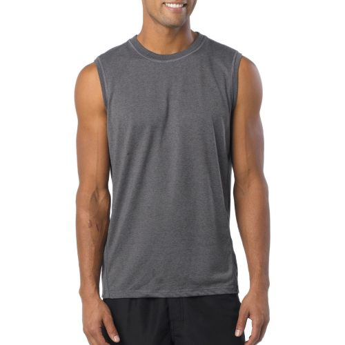 Mens Prana Crux Sleeveless Technical Tops - Gravel L