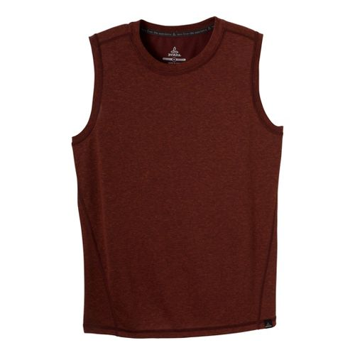 Mens Prana Crux Sleeveless Technical Tops - Raisin XL