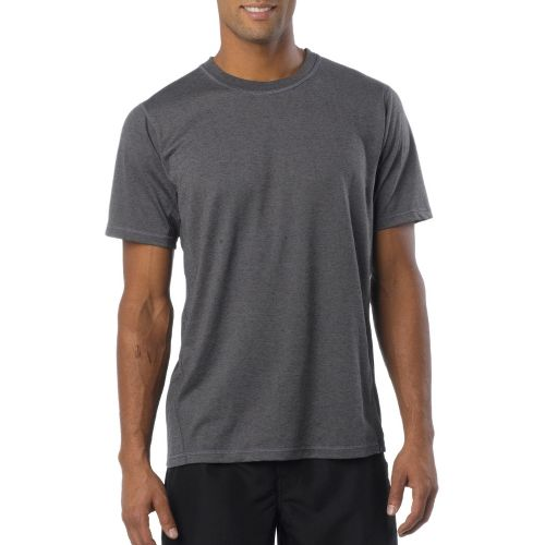 Mens Prana Crux Crew Short Sleeve Technical Tops - Gravel L