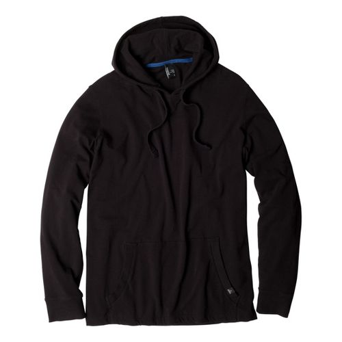 Mens Prana Momentum Hood Warm-Up Hooded Jackets - Black XS
