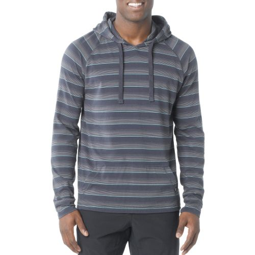 Mens Prana Momentum Hood Warm-Up Hooded Jackets - Coal XS